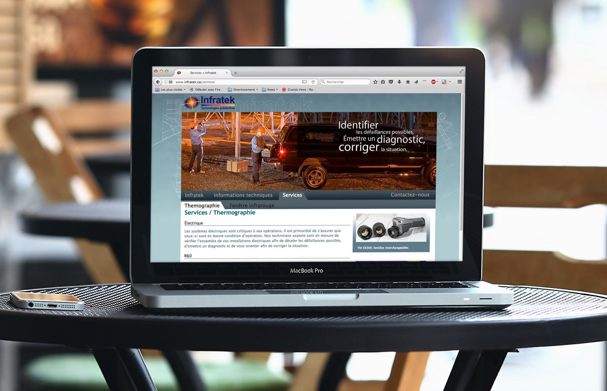 Site Web et papeterie Infratek